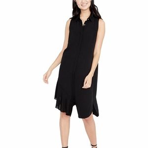Rachel Rachel Roy black crepe Shirtdress s nwt